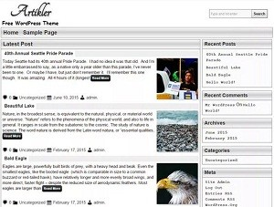 Artikler free WordPress theme