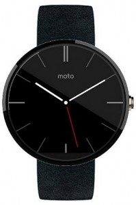 Motorola Moto 360 Black Leather Android Wear Smartwatch