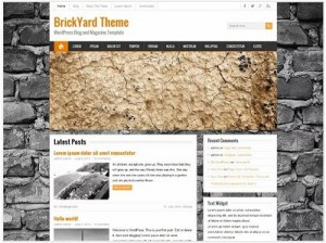 BrickYard magazine WordPress theme