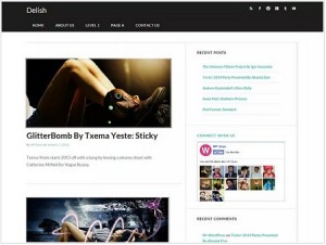 Delish magazine WordPress theme