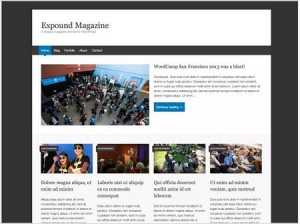 Expound magazine WordPress theme