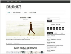 Fashionista magazine WordPress theme