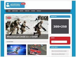 MH Joystick lite magazine WordPress theme