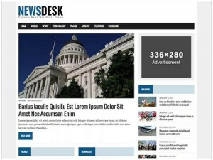 MH Newsdesk lite magazine WordPress theme