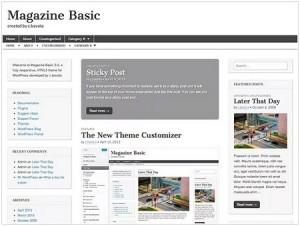 Magazine Basic WordPress theme