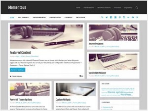 Momentous Lite magazine WordPress theme