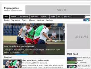 PepMagazine WordPress theme
