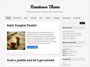 Rundown magazine WordPress theme