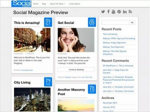 Social magazine WordPress theme