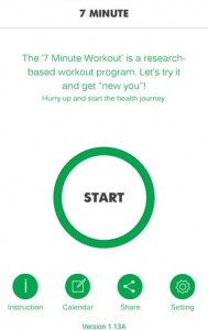 7 minute workout andorid apps for health & fitness