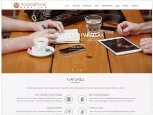 AccessPress Parallax theme for WordPress
