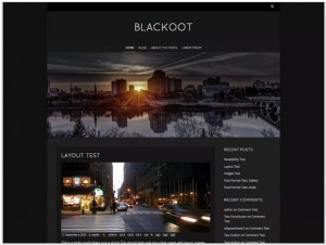 Blackoot Lite WordPress theme for Photography