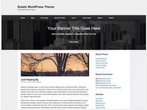 Estate theme for WordPress
