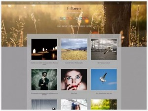 Fifteen Phototgraphy theme for WordPress