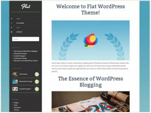 Flat responsive WordPress themes for news