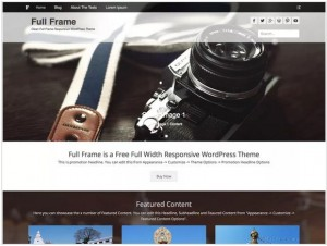 Full Frame WordPress themes for Photography