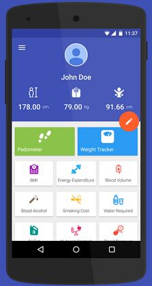 Health Manager app for android