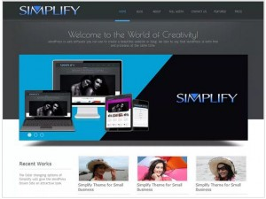 Simplify WordPress themes for small Business
