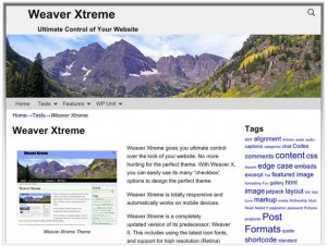 Weaver Xtreme theme for WordPress