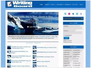 Writing Board theme for WordPress