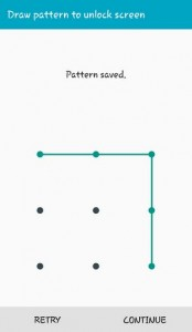 Draw Pattern to unlock screen