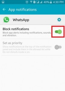 How to block app notifications on android phones