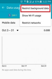 How to restrict background data on android lollipop