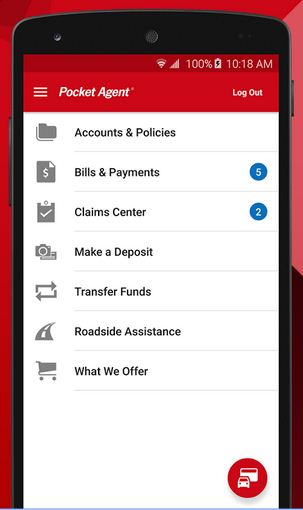Pocket Agent insurance policy app for android