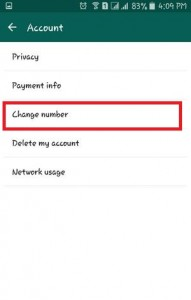 Tap on Change Number