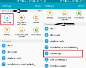 Tap on Data Usage under Quick Settings