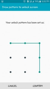 set up pattern lock on android