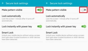 How to hide pattern lock dots on android lollipop
