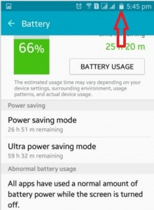 Do not Show battery percentage on status bar