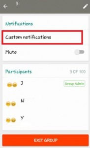 How to change WhatsApp group notification tone on android