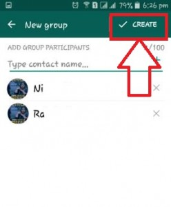 How to create a group on WhatsApp android phone and tablet