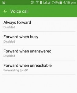 How to set call forwarding on android lollipop (5.1.1)