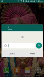 Show WhatsApp popup notification when screen is on
