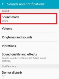 Tap on Sound mode under sound section