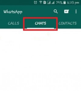 Tap on chats on WhatsApp