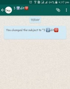 change WhatsApp group name on android