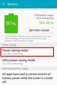 enable power saver mode on android lollipop