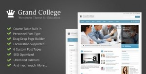 Grand College Education WordPress themes 2016