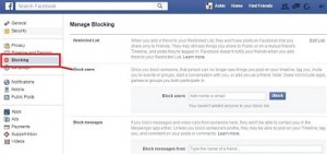 How to Block user on facebook page