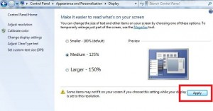 How to change font size in windows 7 desktop