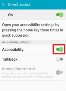 How to enable accessibility in android lollipop