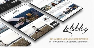 Lets blog WordPress theme for magazine