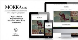 Mokka Magazine WordPress theme 2016