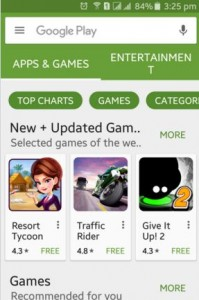 Open google play store app on android