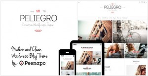 Peliegro clean personal wordpress blog theme