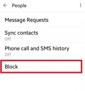 Tap on block